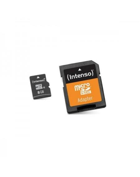 Carte Mémoire Micro SD avec Adaptateur INTENSO 3413460 8 GB Cours 10