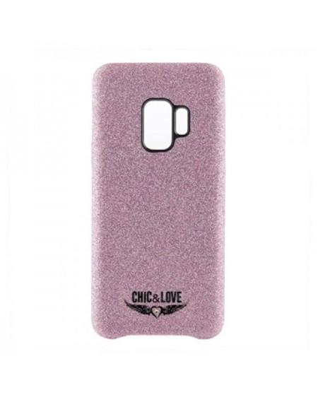 Étui Samsung S9 Chic & Love CHCAR007 Paillettes Rose