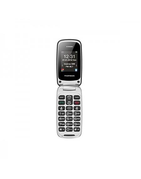 """Téléphone portable pour personnes âgées Thomson Serea 63 2.4"""" Bluetooth Rouge"""