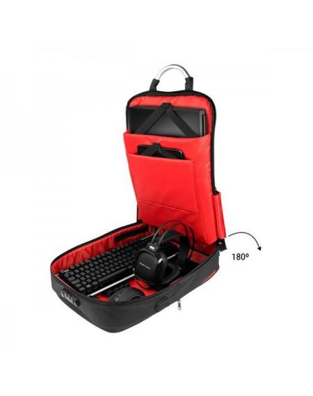 """Sac à Dos Anti-vol avec USB et Compartiment pour Tablette et OrdinateurPortable Mars Gaming MB2 17"""""""