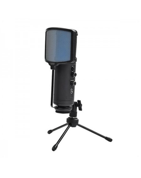 Microphone de Bureau KEEP OUT XMICPRO USB Streaming LED Noir