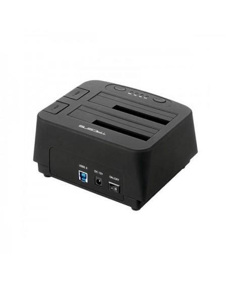 "Dock Station Dual Tacens 5PORTUMDUO2 2.5""-3.5"" SATA USB 3.0 Noir"
