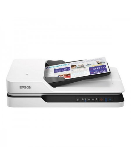 Scanner Wifi Double Face Epson WorkForce DS-1660W 1200 dpi LAN Blanc