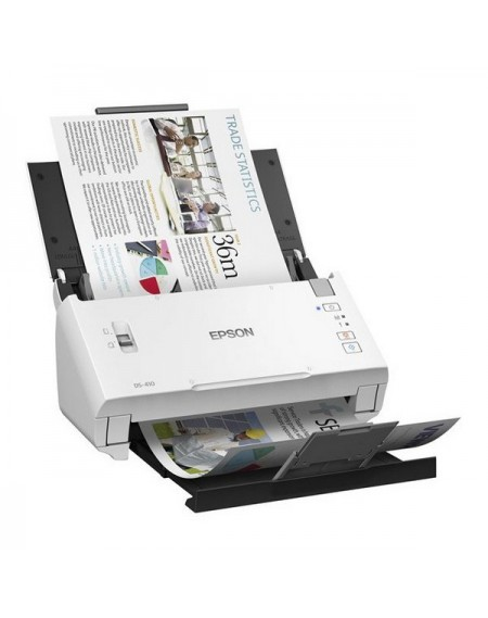 Scanner Double Face Epson WorkForce DS-410 600 dpi USB 2.0 Blanc