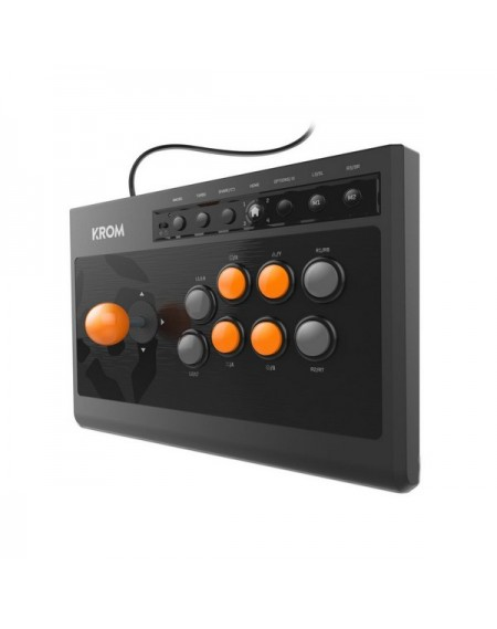 Manette de jeu Krom Kumite Noir Orange