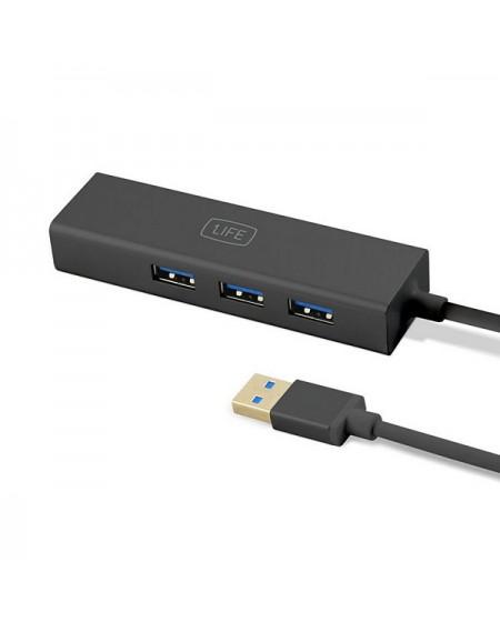 Hub USB 3 Ports 1LIFE 1IFEUSBHUB3 USB 3.0 Noir