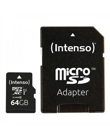 Carte Mémoire Micro SD avec Adaptateur INTENSO 34234 UHS-I XC Premium Noir